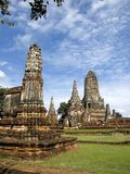 Ancient Temple Ruin. Ancient ruin of a temple complex in Ayutthaya, Thailand Royalty Free Stock Photos