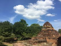 Ancient Temple Ruin. In Thailand Stock Photo