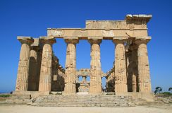 Ancient temple ruins. In Selinute, Sicily Royalty Free Stock Photo