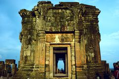 Ancient temple ruins Stock Photo