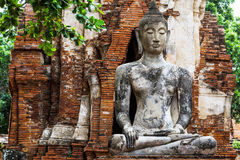 Ancient temple with ruins buddha Stock Images