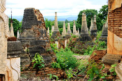 Ancient temple ruins in Inthein, Myanmar Royalty Free Stock Images