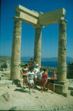 Ancient temple ruins in Rhodos Stock Images