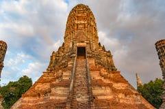 Ancient temple ruins. Wat Chai Wattanaram, Thailand Stock Image