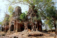 Ancient temple`s ruins in Cambodia Royalty Free Stock Photos