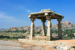 Ancient Temple  on the sacred Hemakuta hill, Hampi Royalty Free Stock Photography