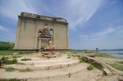 Ancient Temple at Sangklaburi Stock Photos