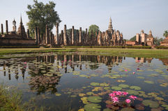 Ancient temple at Sukhothai historical park Stock Image