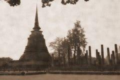 Ancient temple. In sukhothai Thailand Stock Photo
