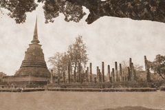 Ancient temple. In sukhothai Thailand Royalty Free Stock Image