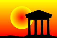 Ancient temple at the sunset Royalty Free Stock Photo