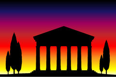 Ancient temple at the sunset Royalty Free Stock Image