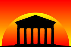 Ancient temple at the sunset Royalty Free Stock Photos