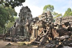 Ancient temple Ta Som in Siem reap. Cambodia Stock Image