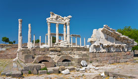 Ancient Temple of Trajan Royalty Free Stock Images
