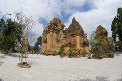 Ancient Temple in Vietnam. Fisheye view of ponagar ancient temple in Nha Trang, Vietnam Stock Photos