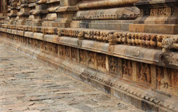 Ancient temple wall Stock Photography