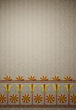 Ancient temple wall decorations. Background illustration of a wall decorated in ancient egyptian style Stock Images