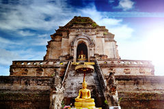 Ancient temple of Wat Chedi Luang in Chiang Mai, Thailand. Royalty Free Stock Image