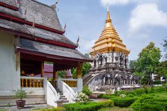 Ancient temple, Wat Chiang Man temple Stock Photo