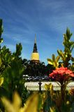 Ancient Temple wat-yai-chai-mongkol of ayuthaya province thailand Stock Images