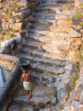 Ancient Temple Waterhole royalty free stock photography
