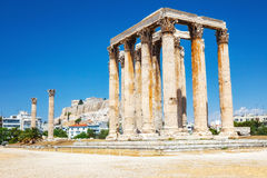 Ancient Temple of Zeus in Athens Stock Photos