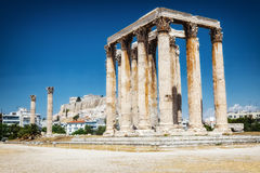 Ancient Temple of Zeus in Athens Stock Photo