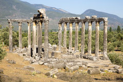 Ancient temple of Zeus at Euromos, Turkey Stock Photography