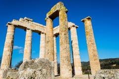 Ancient Temple of Zeus in the Nemea Stock Photos