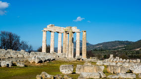Ancient Temple of Zeus in the Nemea Royalty Free Stock Photography