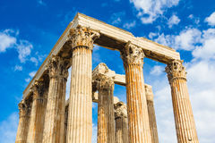 Ancient Temple of Zeus, Olympeion, Athens, Greece Royalty Free Stock Photo