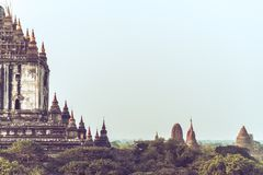Ancient temples in Bagan royalty free stock photo
