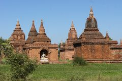 Ancient Temples in Bagan, Myanmar Royalty Free Stock Photography