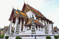 Ancient temples and churches,Buddhist temple. Is a royal temple in Bangkok, Thailand Stock Image