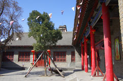 Ancient temples. On March 15, 2014 tourists and citizens in xian xiang temple to visit. Accumulated fragrance temple is the first inquiry into Chinese pure land Royalty Free Stock Photography