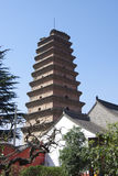 Ancient temples. On March 15, 2014 tourists and citizens in xian xiang temple to visit. Accumulated fragrance temple is the first inquiry into Chinese pure land Royalty Free Stock Image