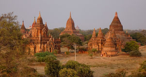 Ancient temples at Old Pagan, Myanmar Royalty Free Stock Image