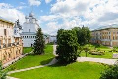 Ancient temples of Rostov Kremlin of Rostov Great Stock Photo