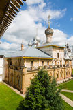 Ancient temples of Rostov Kremlin of Rostov Great Stock Image