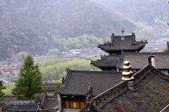Ancient temples and small town. S in the mountain Stock Photos