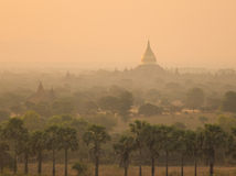 Ancient temples at sunrise in Bagan, Myanmar Stock Images