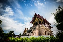 Ancient Temples Thailand Lanna Stock Images