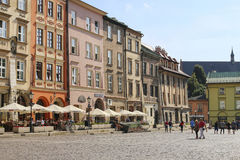 Ancient tenements around Maly Rynek square, Krakow, Poland Royalty Free Stock Image