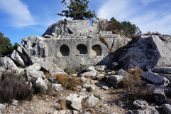 Ancient Termessos in Antalya Stock Images