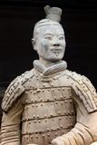 Ancient and proudly terracotta warrior (Unesco) in close up, Xian, China. Ancient terra cotta warrior in close-up in the museum in Xian, province Shaanxi, China stock photography