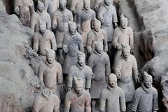 Ancient terracotta warriors (Unesco) in Xian, China Royalty Free Stock Photography
