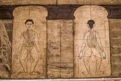 Ancient texts engraved massage. Marvel medical texts Chetupon Stock Image