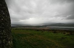 Irish Ring fort in Donegal. Grianan of Aileach Royalty Free Stock Photo