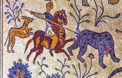 Ancient 6th Century Mosaic Memorial Church Moses Mt Nebo Jordan Stock Image
